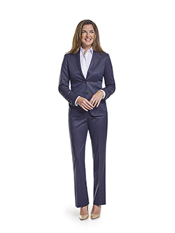 Ladies Custom Suits, Custom Dresses & Custom Skirt Gallery                                                                                                                                                                                                , Super 120's Plum Navy Melange - Made-To-Measure Ladies Suit