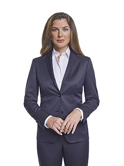 Ladies Custom Suits, Custom Dresses & Custom Skirt Gallery                                                                                                                                                                                                , Super 120's Plum Navy Melange - Custom Ladies Suit
