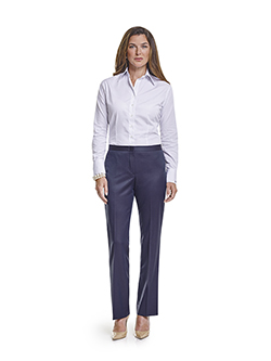 Ladies Custom Suits, Custom Dresses & Custom Skirt Gallery                                                                                                                                                                                                , Super 120's Plum Navy Melange - Custom Dress Shirt & Dress Pant