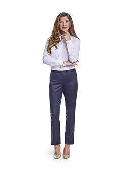 Ladies Custom Suits, Custom Dresses & Custom Skirt Gallery                                                                                                                                                                                                , Super 120's Plum Navy Melange - Custom Dress Shirt & Dress Slacks