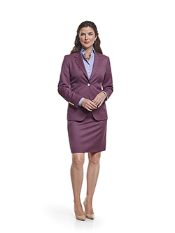 Ladies Custom Suits, Custom Dresses & Custom Skirt Gallery                                                                                                                                                                                                , Super 120's Aubergine Plain - Ladies Made-To Measure Suit & Custom Dress Shirt