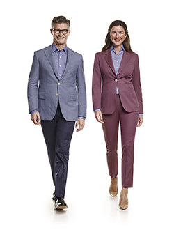 Ladies Custom Suits, Custom Dresses & Custom Skirt Gallery                                                                                                                                                                                                , Super 120's Aubergine Plain - Ladies Custom Suit & Custom Dress Blouse