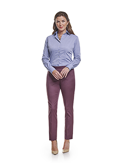 Custom Super 120's Aubergine Plain - Custom Ladies Pant & Custom Shirt