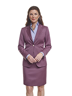 Custom Super 120's Aubergine Plain - Ladies Made-To-Measure Jacket & Dress Shirt