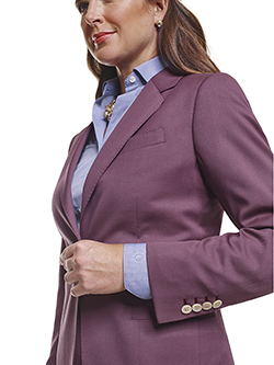 Custom Super 120's Aubergine Plain - Ladies Custom Jacket & Custom Shirt
