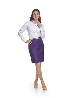 Ladies Custom Suits, Custom Dresses & Custom Skirt Gallery                                                                                                                                                                                                , Super 100's Purple Plain - Custom Skirt & Custom Ladies Blouse