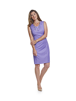 Ladies Custom Suits, Custom Dresses & Custom Skirt Gallery                                                                                                                                                                                                , Super 100's Lavender Plain - H&S Mille Miglia - Custom Sleeveless Dress