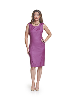 Ladies Custom Suits, Custom Dresses & Custom Skirt Gallery                                                                                                                                                                                                , Super 100's Cerise Solid - Made-To-Measure Sleeveless Dress