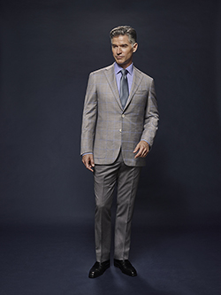 Custom Light Gray with Powder Blue Windowpane - Oxxford Hand Made Bespoke Suit