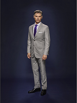 Custom Silver Gray Tonal Asymetric Stripe - Holland & Sherry Dragonfly Supreme - Oxxford Hand Made Bespoke Suit