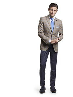 Men's Modern Custom Suit Gallery                                                                                                                                                                                                                          , Super 120's Sandstorm Plaid - Custom Tailored Sport Coat