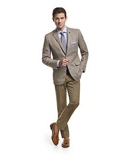 Men's Modern Custom Suit Gallery                                                                                                                                                                                                                          , Super 120's Sandstorm Plaid - Made-To-Measure Sport Coat