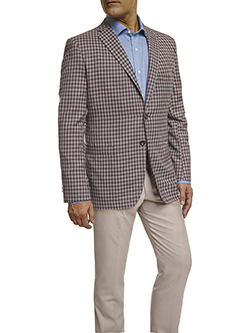 Men's Modern Custom Suit Gallery                                                                                                                                                                                                                          , Super 120's Maroon Windowpane Check - Made-To-Measure Sport Coat & Trousers