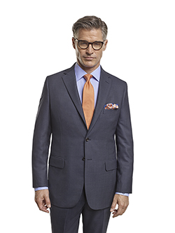 Custom Super 140's Blue Birdseye - H&S Mille Miglia - Made-To-Measure Men's Suit