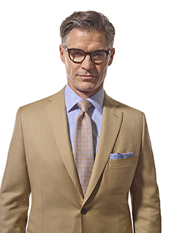 Men's Tradition Custom Suit Gallery                                                                                                                                                                                                                       , Super 120's Tan Solid - Made-To-Measure Suits