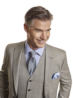 Men's Tradition Custom Suit Gallery                                                                                                                                                                                                                       , Super 140's Gray Windowpane - Made-To-Measure 3-Piece Suits