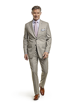 Men's Tradition Custom Suit Gallery                                                                                                                                                                                                                       , Super 140's Gray Windowpane - Custom Tailored Suit