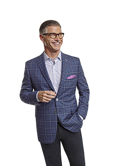 Custom Super 100's Blue Plaid - Made-To-Measure Sport Coat & Jack of Spades Jeans