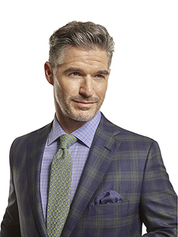 Men's Tradition Custom Suit Gallery                                                                                                                                                                                                                       , Super 140's Char Blue Plaid - Custom Men's Suit - Custom Sport Coat