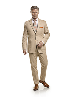 Men's Tradition Custom Suit Gallery                                                                                                                                                                                                                       , 100% Cotton Khaki Plain - Custom Men's Suit