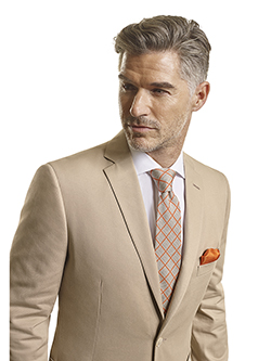Men's Tradition Custom Suit Gallery                                                                                                                                                                                                                       , 100% Cotton Khaki Plain - Made-To-Measure Men's Suit