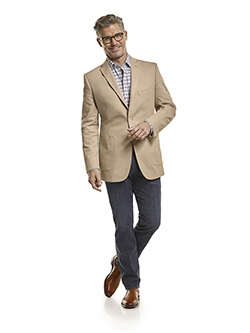 Custom 100% Cotton Khaki Plain - Custom Blazer & 34 Heritage Jeans