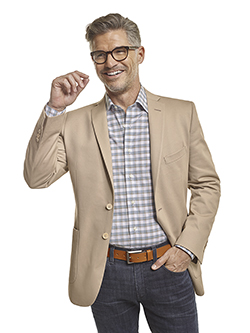 Men's Tradition Custom Suit Gallery                                                                                                                                                                                                                       , 100% Cotton Khaki Plain - Made-To-Measure Blazer & 34 Heritage Jeans