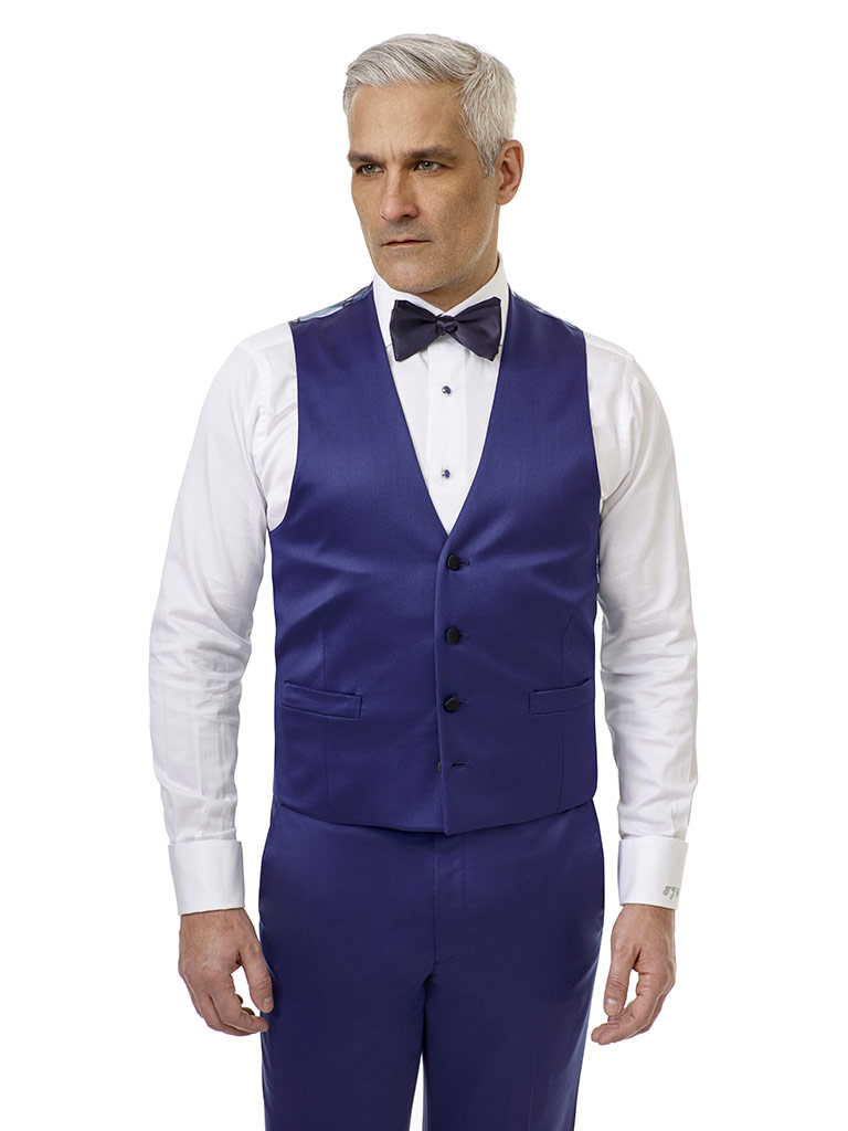 Royal Blue Solid Tuxedo