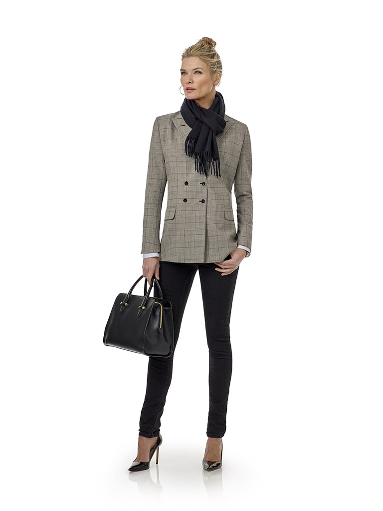 Black & White Plaid - Holland & Sherry Stretch