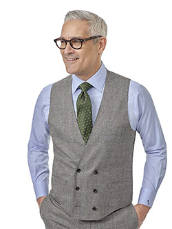 Custom Gray Plaid Suit