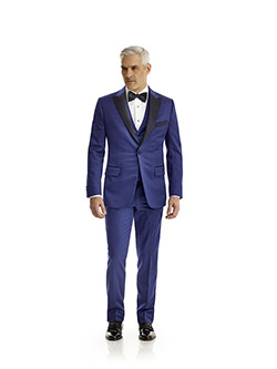 Custom Royal Blue Solid Tuxedo