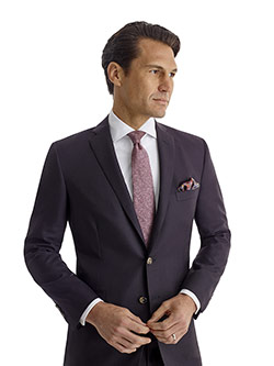 Men's Modern Collection                                                                                                                                                                                                                                   , Super 120's - Plum Fancy Weave