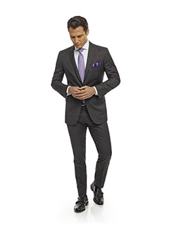 Men's Modern Collection                                                                                                                                                                                                                                   , Super 120's - Dark Gray Plain