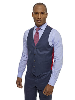 Men's Updated Classic Collection                                                                                                                                                                                                                          , Super 100's - Dark Blue Check