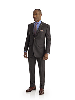 Men's Updated Classic Collection                                                                                                                                                                                                                          , Super 120's - Charcoal Plaid