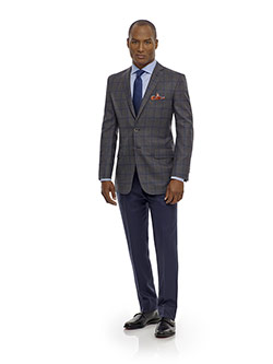 Men's Updated Classic Collection                                                                                                                                                                                                                          , Super 120's Gray Plaid