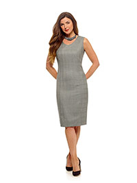 Ladies Colleciton                                                                                                                                                                                                                                         , 100% Linen Light - Gray Stripe