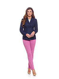 Ladies Colleciton                                                                                                                                                                                                                                         , 100% Wool - Navy Plain