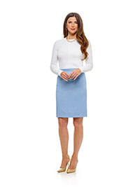 Ladies Colleciton                                                                                                                                                                                                                                         , Super 120's Wool - Sky Blue Plain