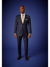 Men's Luxury Collection                                                                                                                                                                                                                                   , Super 140's Wool - Blue Stripe