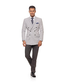 Men's Modern Collection                                                                                                                                                                                                                                   , 100% Cotton - Gray Seersucker