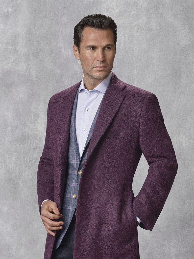 Plum Mix - Holland & Sherry - Contemporary Overcoat