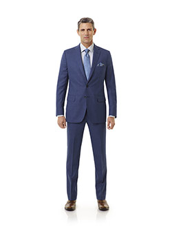 Corporate Image Collection                                                                                                                                                                                                                                , Super 100's Wool - Denim Blue Plaid