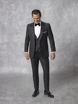 Oxxford Collection                                                                                                                                                                                                                                        , Super 140's Black Solid Tuxedo