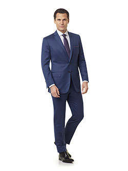Royal Classic Collection                                                                                                                                                                                                                                  , Super 140's Wool - Royal Blue Fancy Weave