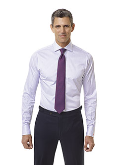 CUSTOM SHIRTS                                                                                                                                                                                                                                             , Purple Striped Custom Dress Shirt