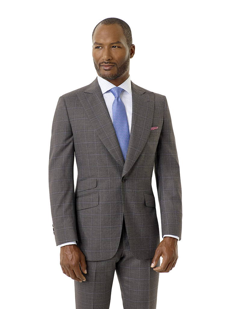 Gray Windowpane Suit - Executive Collection