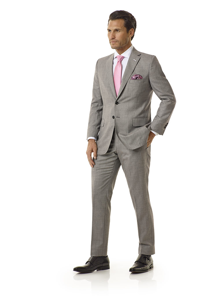 Light Gray Sharksin Suit - Executive Collection