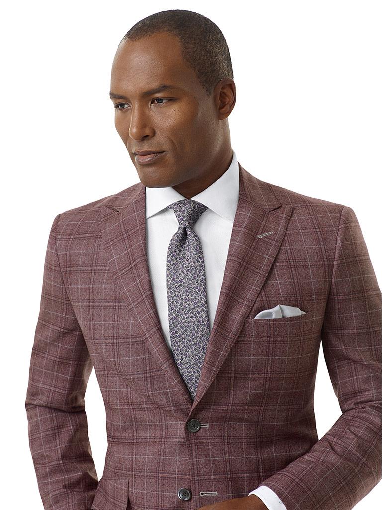 Rust Plaid Sport Coat - Executive Collection
