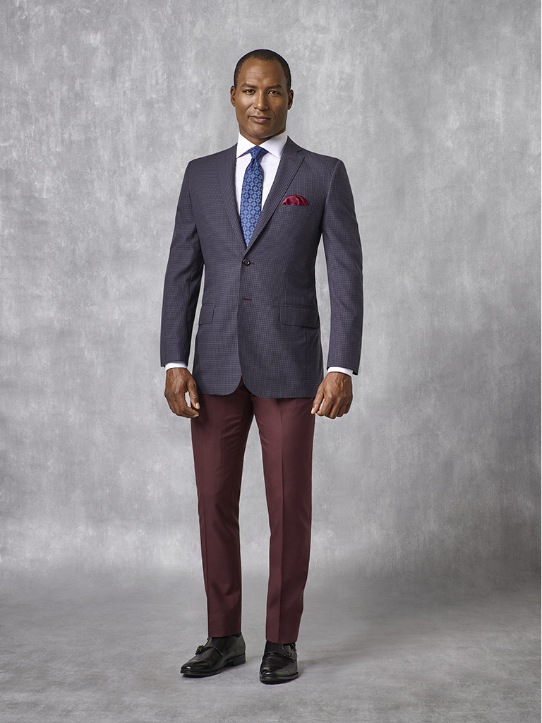 Navy Micro Check Suit - Oxxford Collection